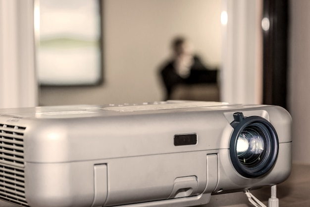 Projector on office table