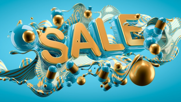 Promo poster of a big sale and mega discounts