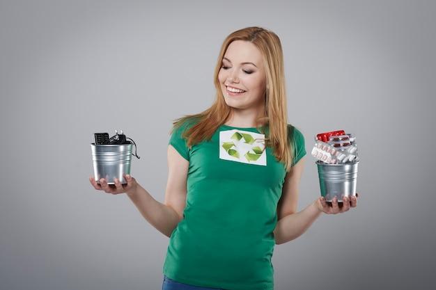 Содействие переработке мелких отходов