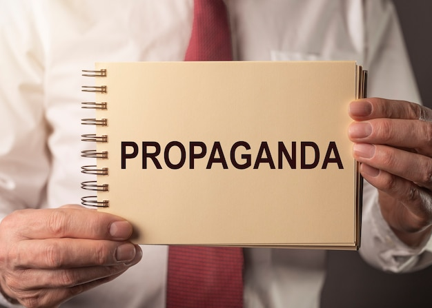 Propaganda word manipulation and brainwash by government concept