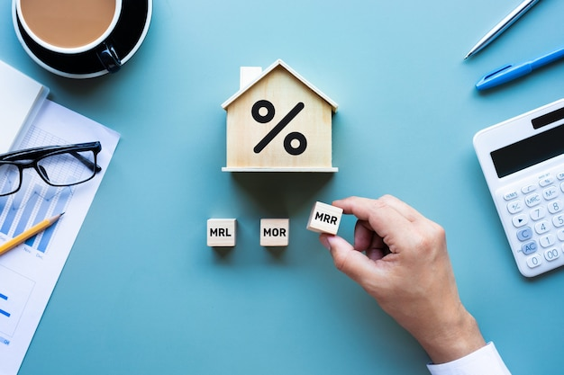 Property interest rate,finance loan option.investment planning.business real estate.