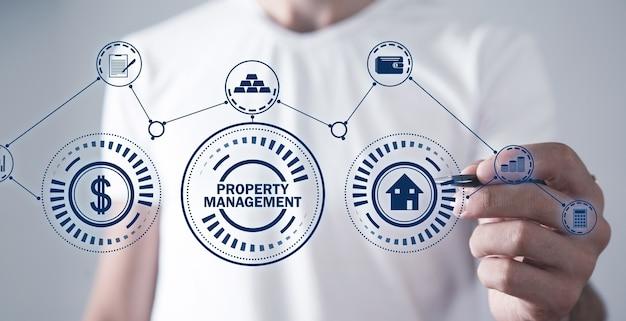 Property management. real estate concept