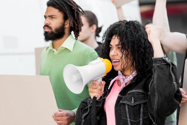 権利黒人の生活の抗議