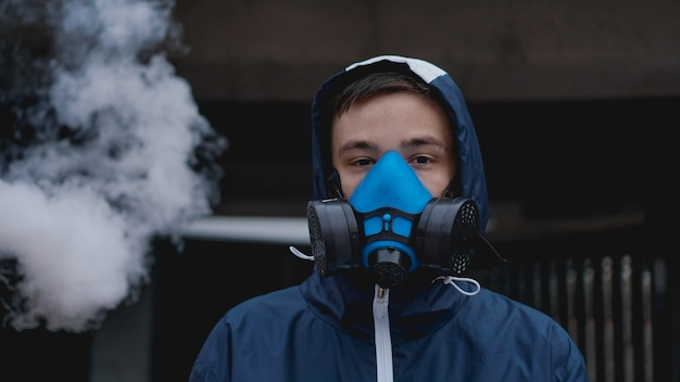 Protection respirator half mask for toxic gas