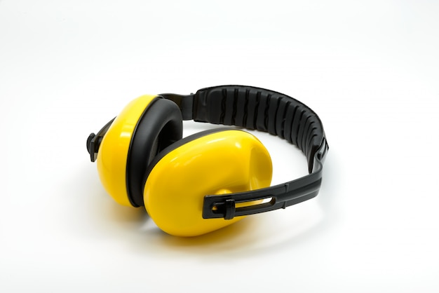 Protective ear muffs isolated