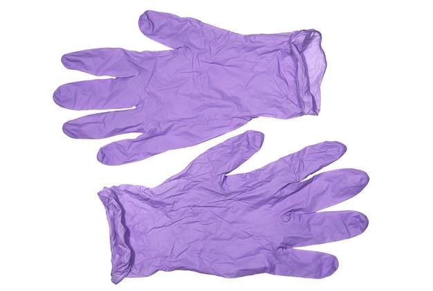 紫色の保護ラテックス手袋保護および衛生医療用品