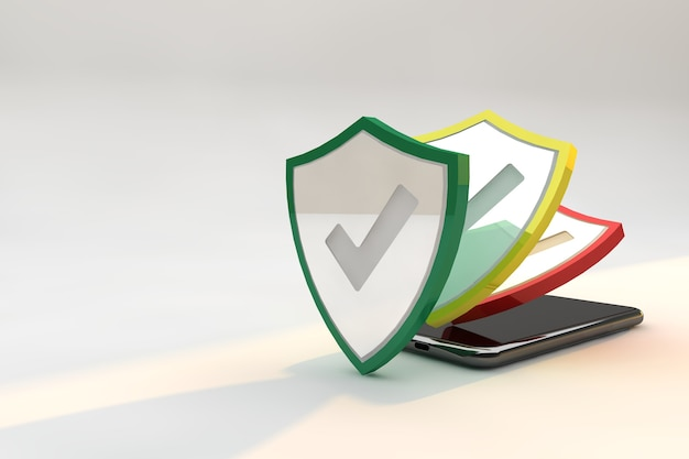 Protective shields against cyber security on smartphone