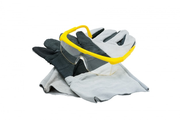 Protective work gloves isolated