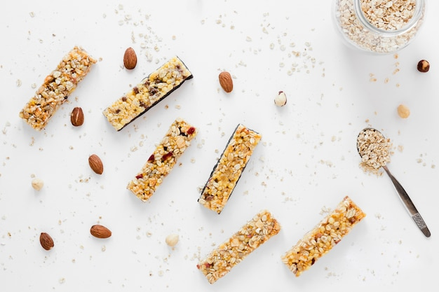 Protein bars with oats and nuts