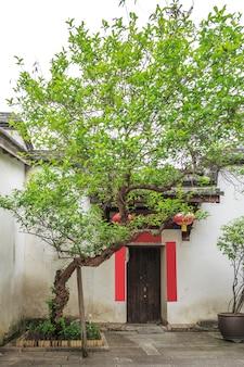 지방 건축 타운 하우스 벽