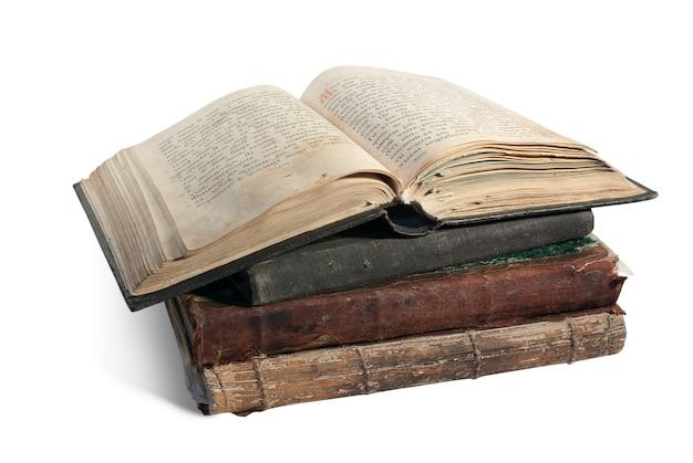 古い開かれた本はキリスト教徒のpsalterです
