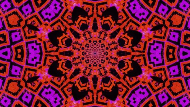 흥미로운 모양과 형태의 사이코 델릭 추상 콘서트 시각적 kalaidoscope