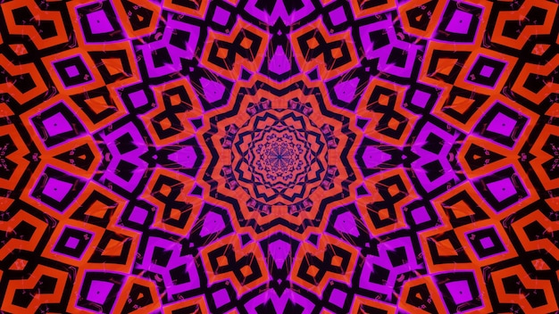 Psychodelic abstract concert visual kalaidoscope with interesting shapes and forms
