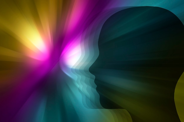 Психолелический цветной фон