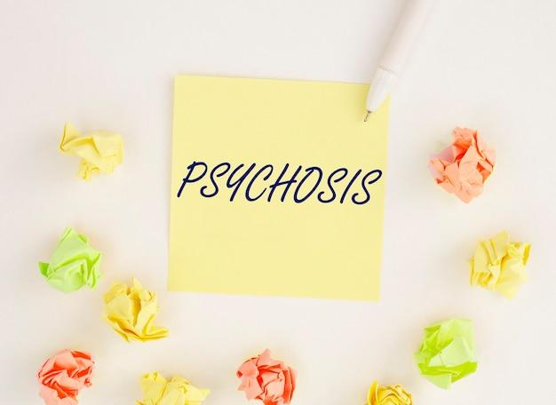 정신병 단어, 비문. 정신 장애 및 문제.
