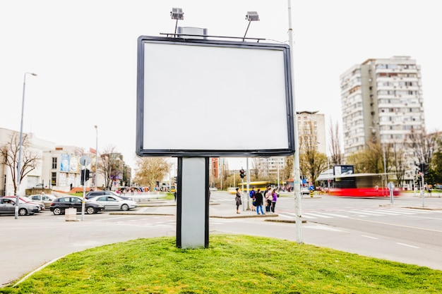 Public billboard on the street for advertising in the city