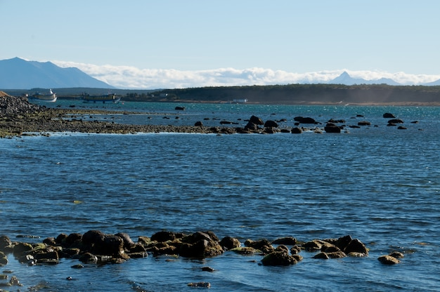 Puerto natales lake chile patagonia
