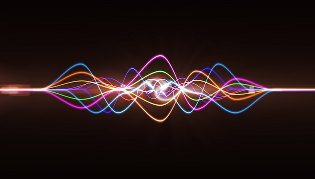 Pulse musical. abstract of sound wave, light frequencies or bright equalizer
