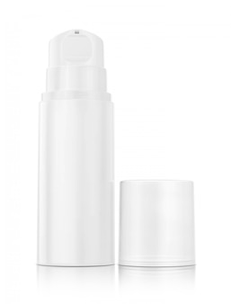 Pump bottle for cream and lotion isolated