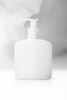 Pump bottle with copy space for shower cream and lotion