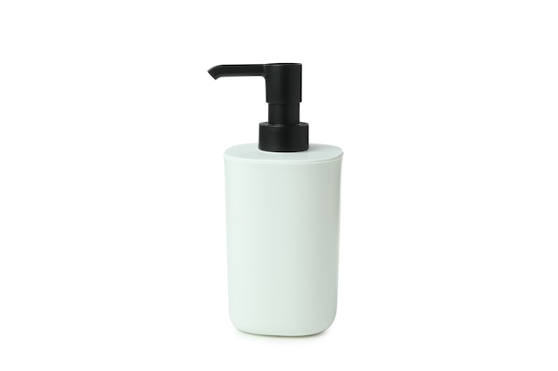白い背景で隔離のパンパー石鹸ボトル