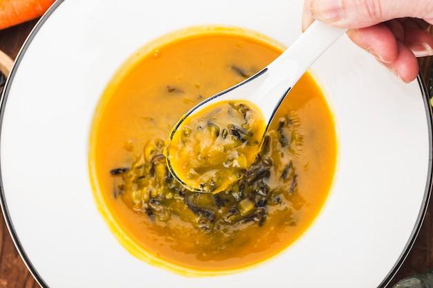 Суп из тыквы и дикого риса, суп из тыквы