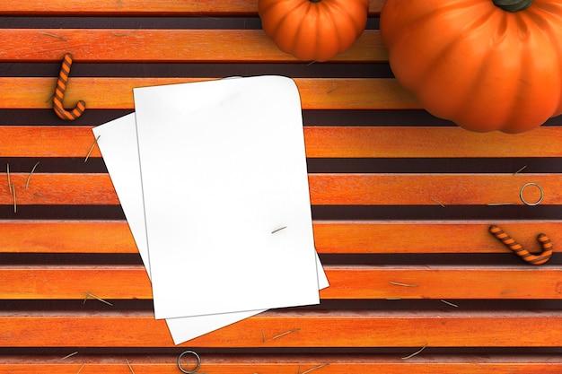 Pumpkin halloween desk