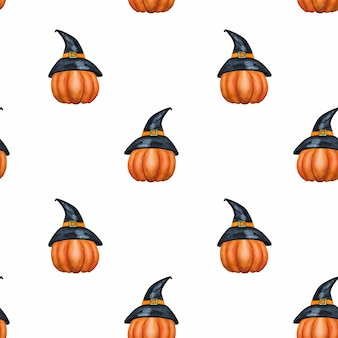 Pumpkin halloween seamless pattern