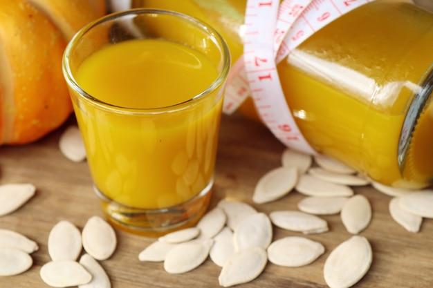 Pumpkin juice with seed