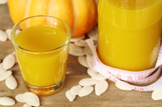 Pumpkin juice with seed
