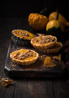 Pumpkin mini pie