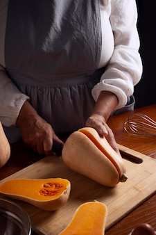 Устройство для приготовления тыквенного пирога