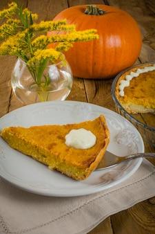 Pumpkin pie and mimoza
