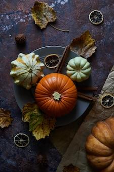 Pumpkin on a plate.