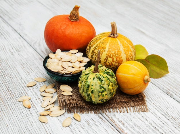 Pumpkin and seed