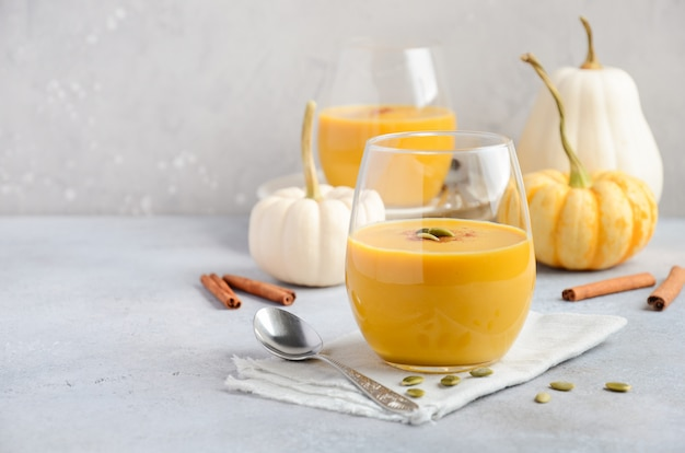 Pumpkin smoothie with spices