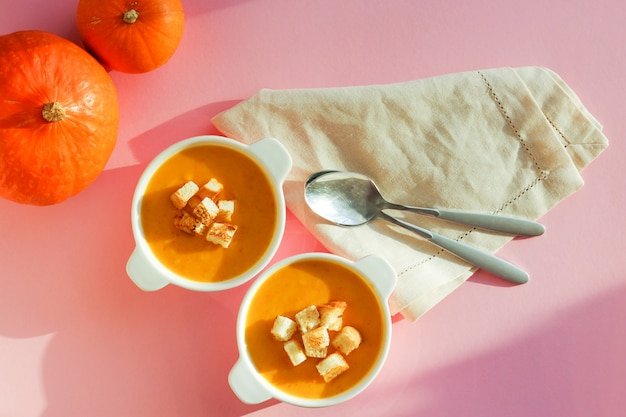 Pumpkin soup puree, the view from the top