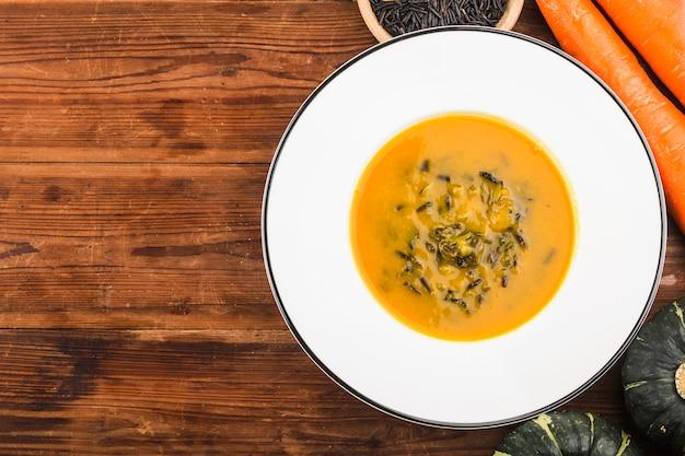 Pumpkin and wild rice soup,pumpkin soup