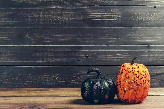 Pumpkin on wooden table