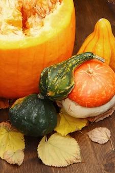 Pumpkins of different shapes