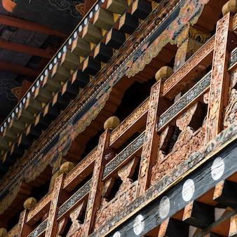 修道院、punakha dzong、プナカ、プナカ渓谷、プナカ地区、ブータンの低角度のビュー