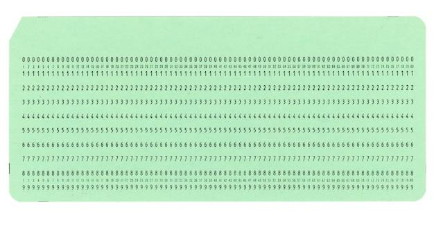 프로그래밍용 천공 카드