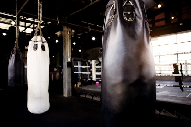 Punching bag in stadium.