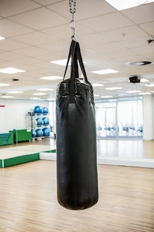Punching bag in studio