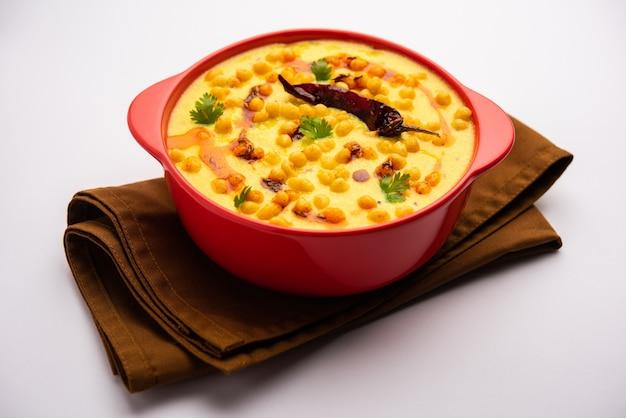 Punjabi style dahi boondi kadhi or kadi or curry