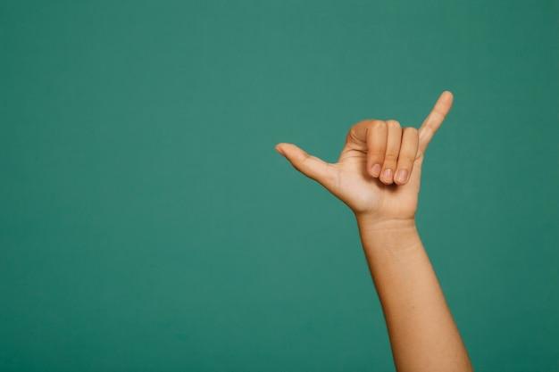 Punk hand gesture