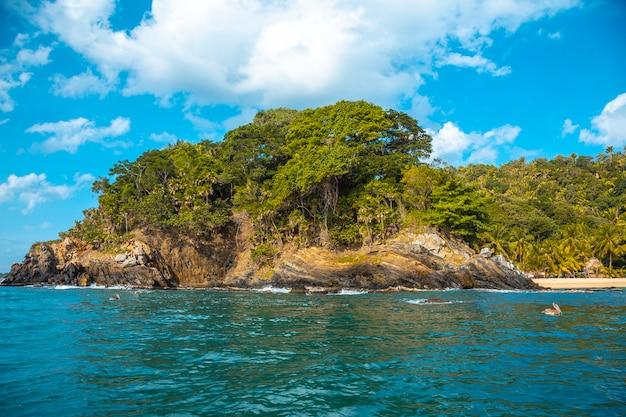 Punta de sal in the caribbean sea, tela. honduras