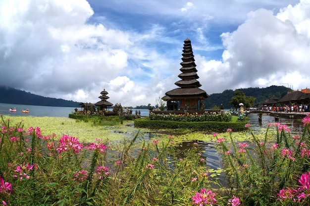 Pura ulun danu bratan temple. one of famous place at bali indonesia