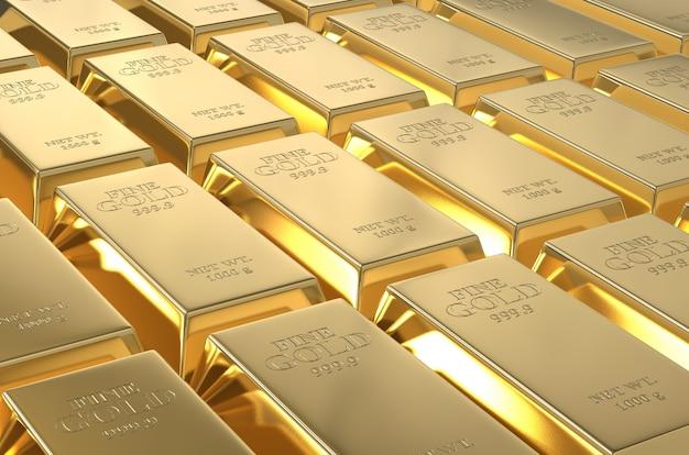 純粋な金の延べ棒の背景