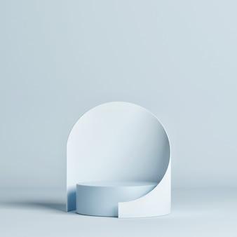 製品プレゼンテーション用の純粋なモックアップ幾何学スタジオ